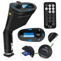 Buy cheap LCD kit Car MP3 Player Wireless FM Transmitter With USB SD MMC Slot remote Blue from wholesalers
