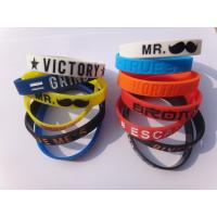 Buy cheap Red Professional Silicone Wristband Bracelet For Children And Adult from wholesalers