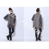Buy cheap Long Black and Grey V Neck Sweaters With long sleeve in Hips Loose Style from wholesalers