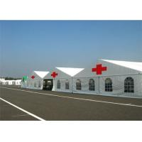 Buy cheap Water Resisitant Hospital Emergency Tent , White Heavy Duty Steel Frame Canopy from wholesalers
