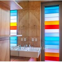 Buy cheap Factory direct-sale colorful or clear decor shutters glass for bathroom window from wholesalers