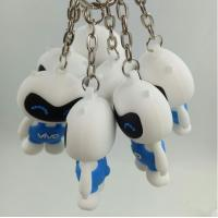 Buy cheap Personalized Vivo Cellphone Brand 3d Soft PVC Keychain With Cartoon White Cat Shaped from wholesalers