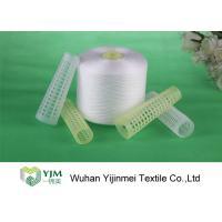 100% Virgin PES Raw White Yarn / Polyester Core Spun ThreadFor Sewing