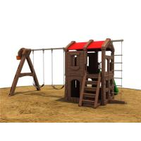 Buy cheap Small Brown Plastic Outdoor Swing Set , Outdoor Plastic Swing Sets from wholesalers