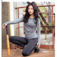 Buy cheap O - Neck Top Vest Womens Long Sleeved Gym Top Running Base Layer Hand / Machine Wash from wholesalers