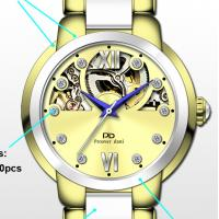 Buy cheap Luxury Ceramic Stainless Steel New Wrist Watch , Mechanical Automatic movement Skeleton Watch from wholesalers