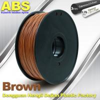 Buy cheap High Strength ABS 3D Printer Filament 1.75mm /  3.0mm 732C Brown 1kg / Spool Filament product