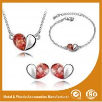 Buy cheap Heart Shape Alloy Jewelry Sets Silver Plated Jewelry Sets For Ladies from wholesalers