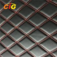 New Design Car Seat Car Floor Embroidery PVC leather with Foam with Non-woven