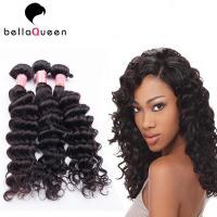 Buy cheap Natural Black Deep Wave Brazilian Virgin Human Hair Extension For Women product