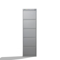 Buy cheap Documents Metal Vertical Filing Cabinet 5 Drawer With Plastic Handle from wholesalers