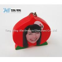 China OEM Funny Red Peach Shaped Musical Keyring , Custom Talking Keychain on sale