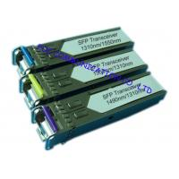 Buy cheap Bi - Di Gigabit Ethernet Transceiver , Small Form-Factor Pluggable Optical Transceiver from wholesalers