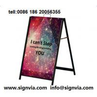 Buy cheap Poster Stand Convenient and portable advertising display most direct prresentation for  promotion CUSTOM from wholesalers