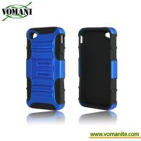 Buy cheap PC+silicone case for iphone4/4S, with Tri-Band design,Belt Clip product