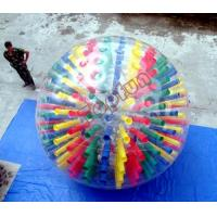 Buy cheap Shinning Colorful PVC Body Inflatable Zorb Ball Customized With D-rings For Show from wholesalers