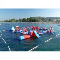 Buy cheap Red and Blue Inflatable Aqua Park , 0.9mm PVC Tarpaulin Inflatable Sports Park from wholesalers