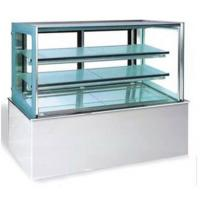 Buy cheap Glass Rectangular Food Showcase Refrigerator Bakery Equipment With 3 Layer from wholesalers