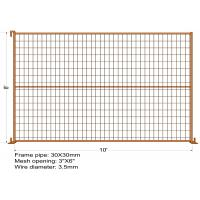 """Buy cheap 8FT X 10FT """"Toronto Tower TEMPORARY FENCE Mesh 3x6 Diameter 3.5mm dupont powder coated minimum layer 100 microns from wholesalers"""