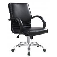 Buy cheap Cool Ergonomic PU Leather Office Chair For Employee Chrome R350 FOOT from wholesalers