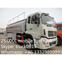 Buy cheap Dongfeng Kinland 4*2 LHD 25cbm mobile fuel tank for sale,High quality and best price diesel fuel tanker truck for sale from wholesalers