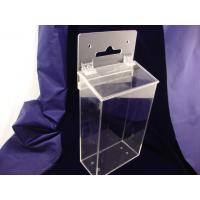 Buy cheap Wall Mounted Clear Durable 3mm Acrylic Storage Boxes for Office Waterproof product