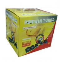 Buy cheap PS2/PC Twin Turbo Race Steering Wheel from wholesalers