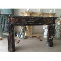 Buy cheap 54 60 Black Portoro Marble Fireplace Surround With Classic Appearance from wholesalers