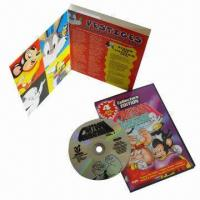 Buy cheap Cartoon Disc Replication Packing with 14mm PP Case and Color Printed Paper Page product