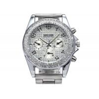Buy cheap MILER Crystal Womens Wrist Watches Bracelet , Silver Dial Case from wholesalers
