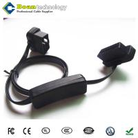 Buy cheap OBD2 II 16 Pin Ultra Flat Power Switch Male to Female Extension Cable from wholesalers