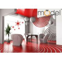 Buy cheap Personalized Wall Decor Clock Red / Blue DIY Art Creative Sticker Wall Clock from wholesalers