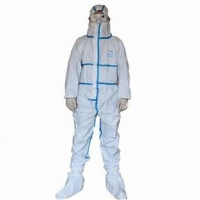 Buy cheap Hospital Doctor Safety Ppe FDA Disposable Protective Suit product