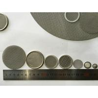Buy cheap High Porosity Round Mesh Screen Filter , Custom Stainless Steel Filter Screen from wholesalers