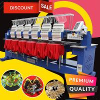 Buy cheap 2020 china best hat embroidery machine sale HO1506H 400*450mm 1200 spm zsk type 6 head cap t-shirt embroidery machine from wholesalers
