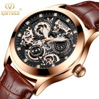Buy cheap Shockproof Leather Wrist Watch Scratch Resistance Table Mirror Long Service Life from wholesalers