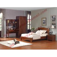 Buy cheap Classic Design Solid Wood Material for Single Bedroom Furniture Set product