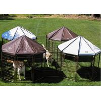 Buy cheap Powder Coating Metal Outdoor Dog Kennel House With Waterproof Cover from wholesalers