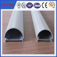 Buy cheap Well aluminium alloy 6063 t5 extrusion profile supplier, half round aluminium led tube from wholesalers
