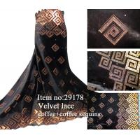 Buy cheap African velvet lace fabric from wholesalers