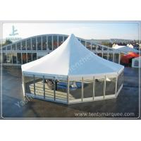 Buy cheap Octagonal Outdoor canopy gazebo tent Transparent Glass Wall and Door 3m Side Length from wholesalers