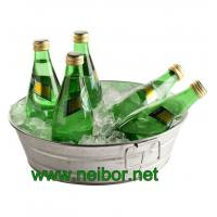 Buy cheap Round galvanized metal beverage tub with handles soda cooler beverage cooler from wholesalers
