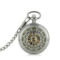 Buy cheap Round Alloy Silver Pocket Watches Vintage Fashion Hollow Watches For Men from wholesalers