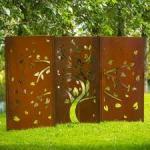 Buy cheap rusted handmade metal wall art laser cut metal garden art metal yard art from wholesalers