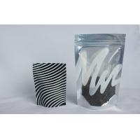 Buy cheap Clear Window Foil Ziplock Bags Stand up , Plastic Bag with Zipper for Tea from wholesalers