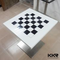 Buy cheap Modern Square Solid Surface Marble Dining Table Artificial , White top from wholesalers