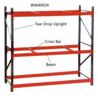 Buy cheap 10' Tall Teardrop Pallet Rack System Full Welded Upright Frame And Step Beam from wholesalers