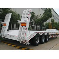 Buy cheap 70 Ton 3 Axles Gooseneck Lowboy Semi Trailer For Heavy Duty Vehicles Delivery from wholesalers