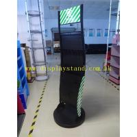 Buy cheap 2 Sided Metal Material Floor Display Stand With Hooks , With Rotatable Base from wholesalers