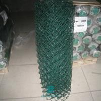 China Galvanized Wire Mesh Fence Rolls Pvc Coated Chain Link Fence Green Color on sale